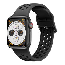 Yayuu Compatible Band for Apple Watch Series 4/3/2/1 Breathable Silicone Sport WristStrap 38/40mm 42/44mm