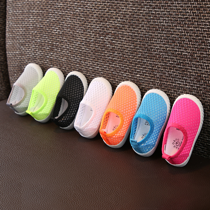 2019 Summer Child Casual Shoes Hollow Baby Girls Boys Toddler Shoes Outdoor Sports Breathable Comfort Kids Mesh Shoes