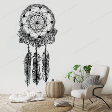 Dream Catcher Wall Decal Vinyl Sticker Decals Feather  bedroom home  Decor Dreamcatcher Decal Stickers Bedroom HJ548 colorful dream catcher flying feather wall stickers symbol home decor bedroom accessories living room decal mural art poster