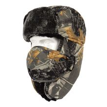 Winter Windproof Waterproof Thick Earmuffs Warm Hat Practical Outdoor Camouflage Hunting Face Cover Hat Cycling Face Mask Cap недорого
