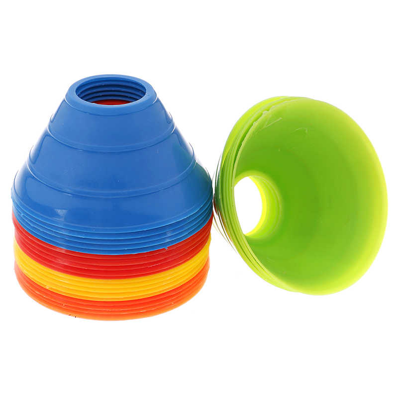 5 pz/set di Alta Qualità di Calcio di Formazione Segno Piatto Resistente Alla Pressione Coni Marker Dischi Marcatore Secchio Accessori Per Lo Sport