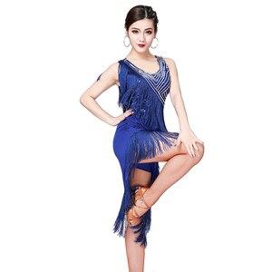 Image 4 - ชุดเต้นรำละติน 2019 ใหม่ผู้หญิงเลื่อมพู่เครื่องแต่งกายผู้หญิงเซ็กซี่บอลรูม/TANGO/Cha Cha การแข่งขันชุด