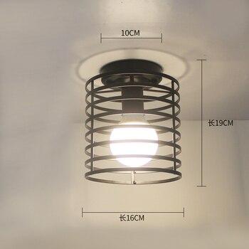 Ceiling lights Minimalist Retro Ceiling Lamp Glass E27 industrial decor  lamps for living room Home Lighting Lustre Luminaria 29