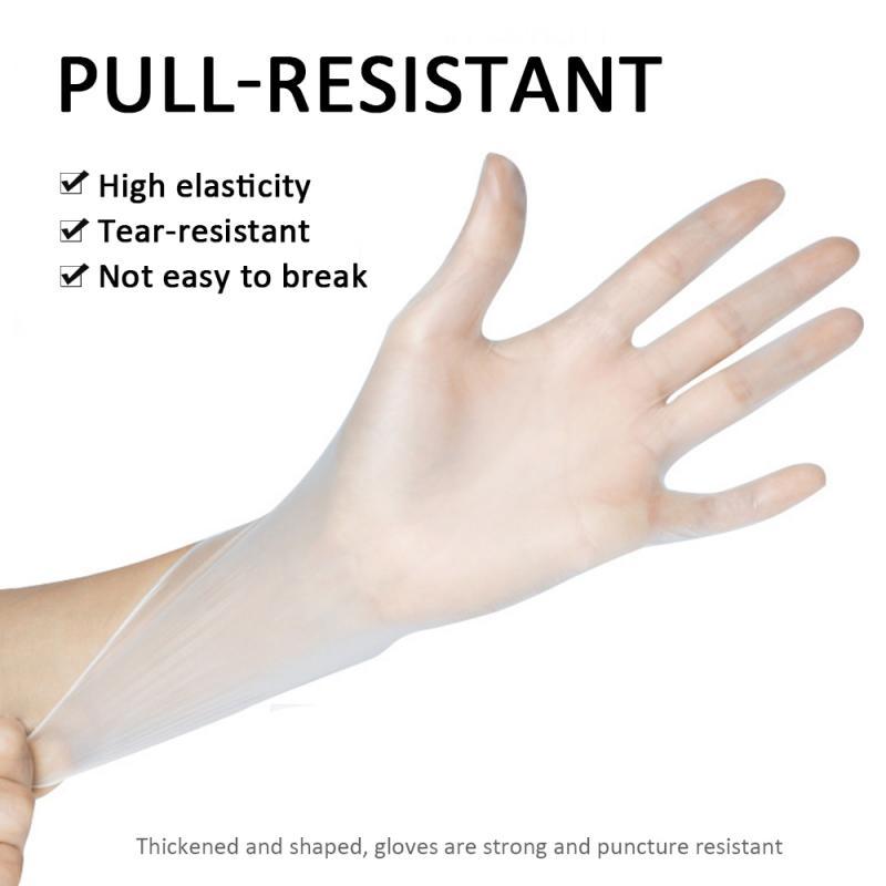 100 шт пластиковые одноразовые прозрачные перчатки пищевые медицинские хирургические перчатки для ресторана экологически чистые чистящие ...