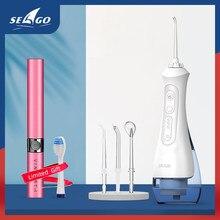 SEAGO – hydropulseur buccal Portable, fil dentaire, Rechargeable par USB, 3 Modes IPX7, 200ML d'eau pour le nettoyage des dents, SG833
