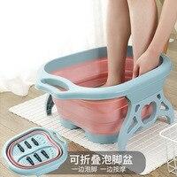 Cubo plegable de masaje espumoso para baño de pies, Pie de plástico, lavabo de baño, barril fording, cuenca de masaje