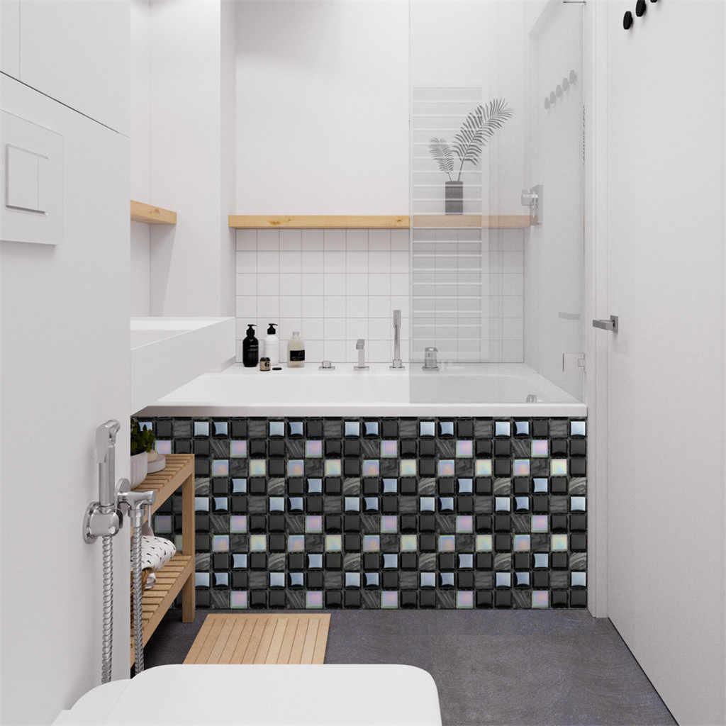 10pcs Selbst Adhesive Wand 3d Fliesen Aufkleber Tapete Wasserdichte Wand Abdeckt Badezimmer Kuche Home Decor Diy Hintergrund Wandaufkleber Aliexpress