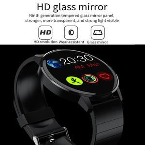 Image 2 - RUNDOING S4 kadın akıllı saat erkekler HD tam dokunmatik ekran kalp hızı kan basıncı oksijen monitörü moda spor smartwatch erkekler