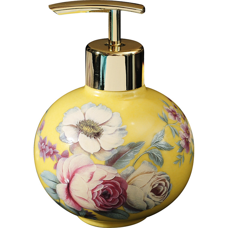European ceramics soap bottle Bathroom Accessories foam Soap Dispenser Kitchen Lotion hand sanitizer Storage shampoo bottle