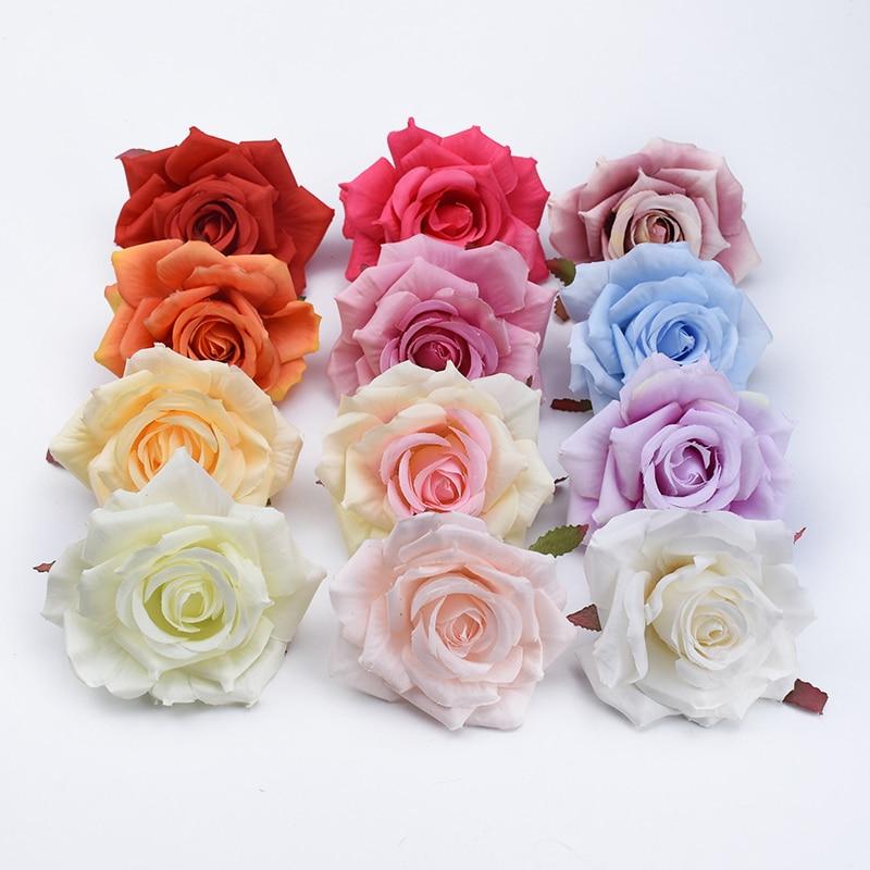 100 шт. шелковые розы, цветы на стену, аксессуары для ванной комнаты, рождественские украшения для дома, свадьбы, дешевые искусственные растен...