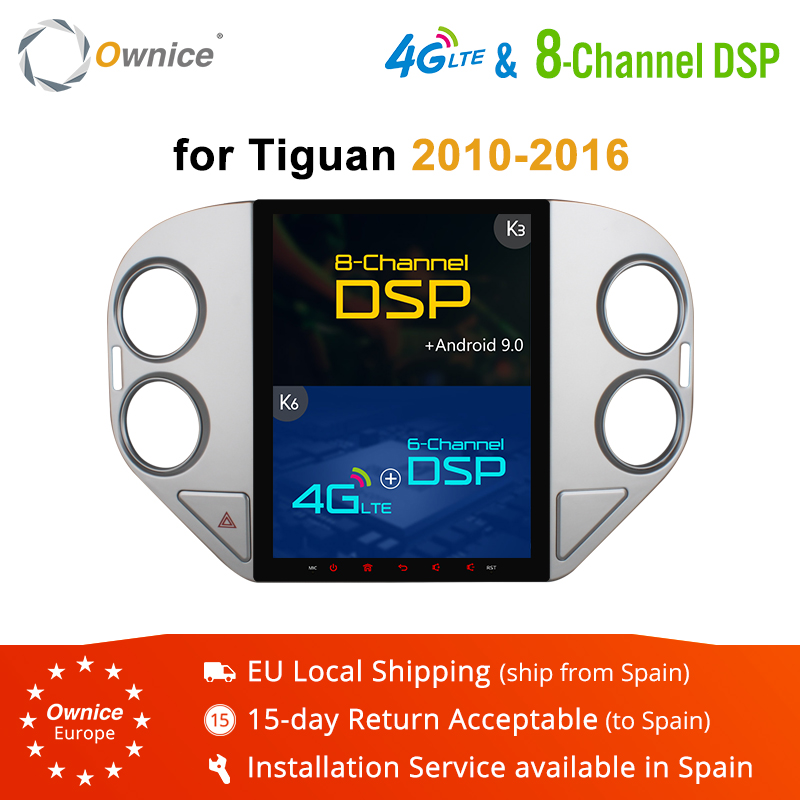 Ownice 4G RAM 64G ROM Octa Core Android 9.0 PX6 4G LTE K3 K6 Car GPS DVD Player for VW Tiguan 2010 2011 2012 2013-2016 DSP SPDIF
