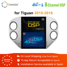 Ownice 4G RAM 64G ROM Octa Core Android 9.0 PX6 4G LTE K3 K6 Car GPS DVD Player for VW Tiguan 2010 2011 2012 2013 2016 DSP SPDIF