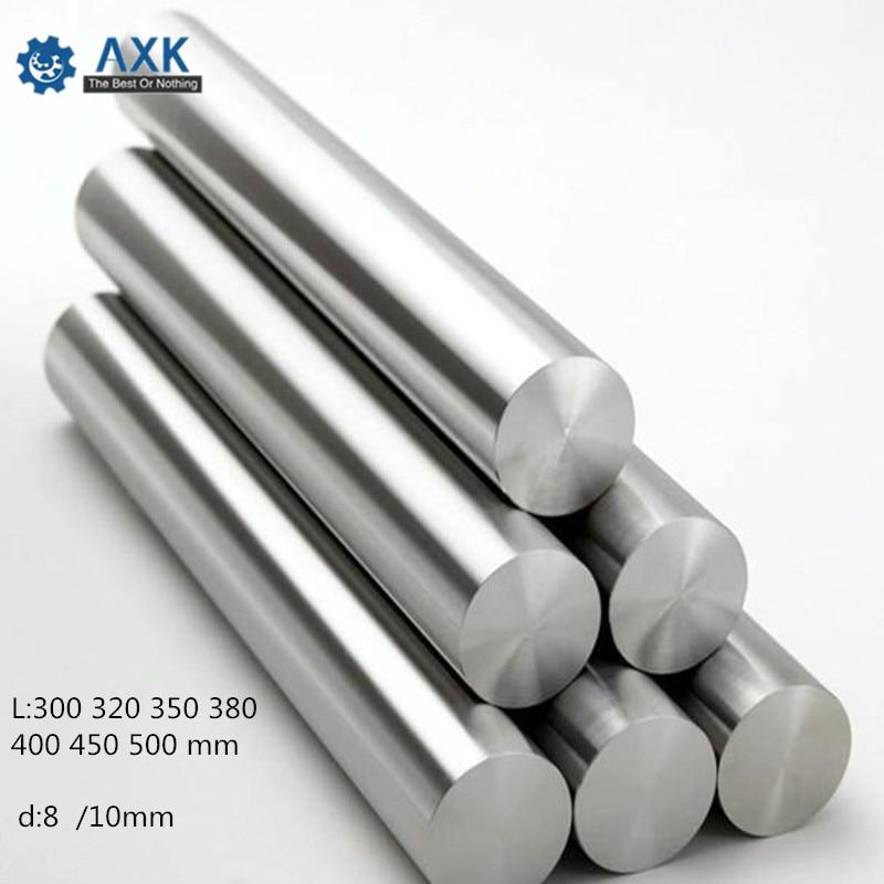 AXK 300 320 350 380 400 450 500 mm Glatte Stangen 8mm Lineare Welle Schiene 3D Drucker Teile Chrom überzogene Guide Rutsche Teil