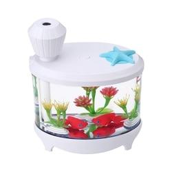 460Ml Fish Tank nawilżacz powietrza rozpylacz zapachów dyfuzor olejków eterycznych Aroma aromaterapia Led Light Mist Maker dla Home Office w Nawilżacze powietrza od AGD na