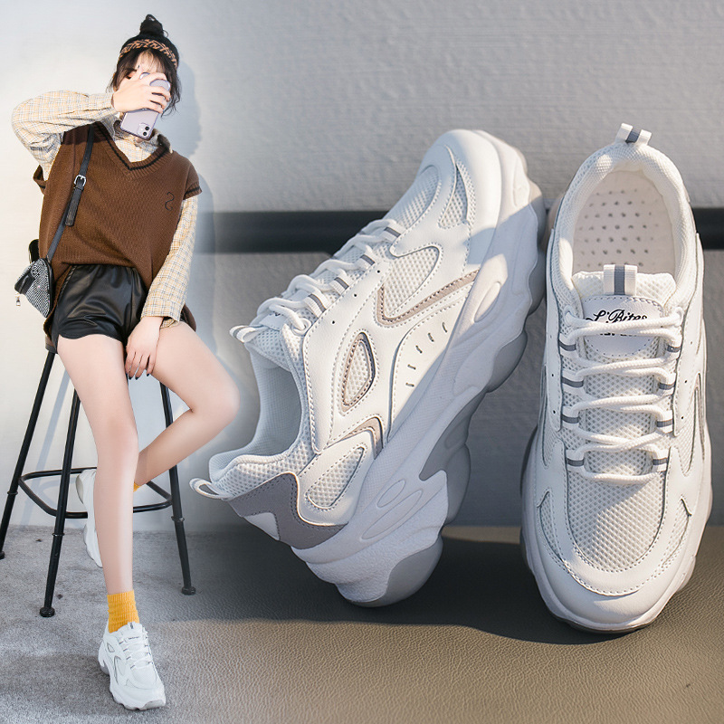 Sports Women Sneakers Trend Women's Shoes Breathable Comfortable Shoes 2020 Fashion New Patchwork Increase Platform Shoes