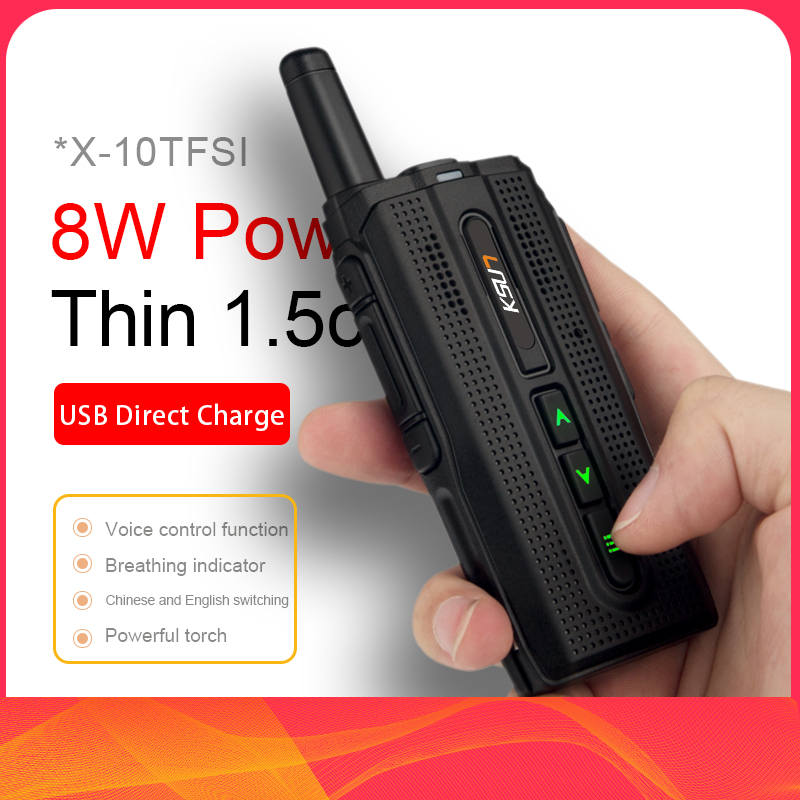 KSUN KSX10 Walkie-talkie Outdoor Small Handheld Meter Mini 50 Civilian Kilometers High Power Mobile Phone Intercom