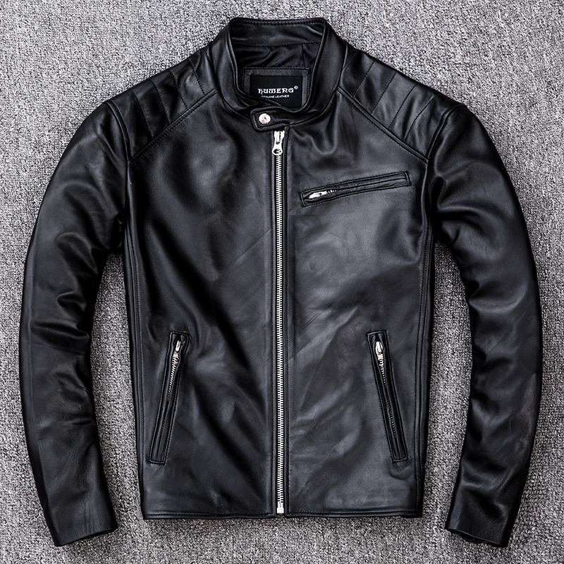 Genuine Sheepskin Leather Jacket Men Clothes 2020 New Real Leather Motorcycle Jackets Vintage Jaqueta De Couro ZL405