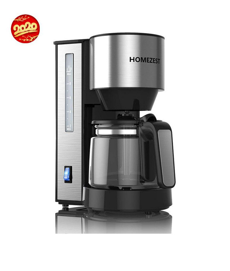 Fashion New Stainless Steel Material Grinding Home Automatic American Coffee Machine Multi-function Drip Type 1.25L Coffee Pot