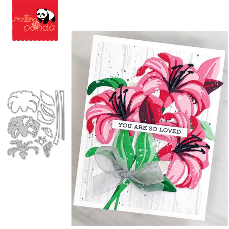 Lily Metal Cutting Dies Stencil Scrapbooking Photo Album Card Paper Embossing Craft DIY