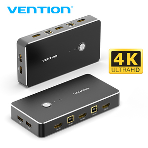 Vention HDMI KVM Switch 2 Port 4K USB Switch KVM VGA Switcher for Sharing Printer Keyboard Mouse TV KVM Spliiter Switch HDMI VGA