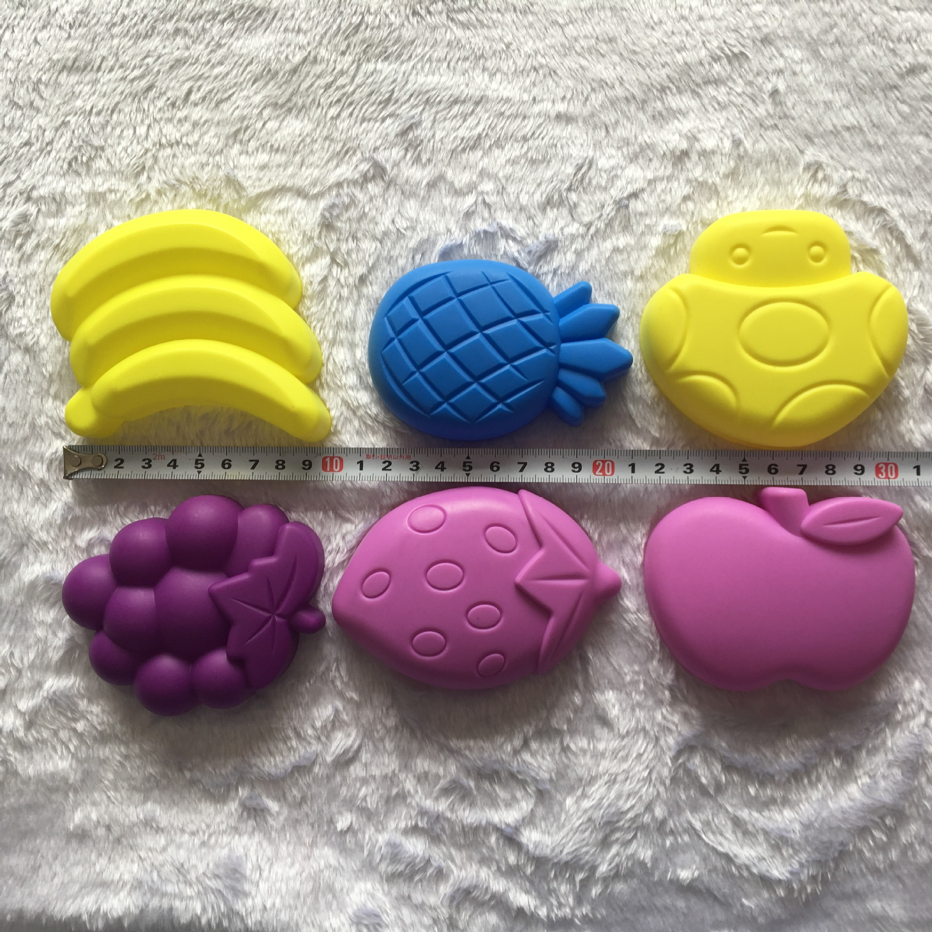 6pcs Child Kid Model Building Kits Portable Fruit Sand Clay Mold Building Decoration Beach Sand Toy