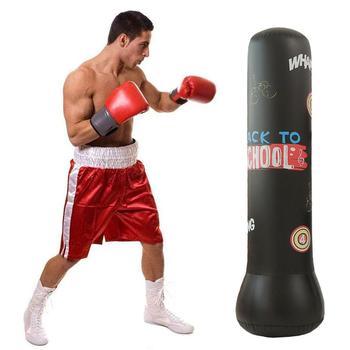 Nadmuchiwany bokserski worek z piaskiem wolnostojący zagęszczony bokserski worek treningowy dla dorosłych dzieci Fitness ćwiczenia tanie i dobre opinie Kategoria z worków z piaskiem 8 lat Boxing Sandbag Inflatable Boxing Sandbag about 120cm about 150cm