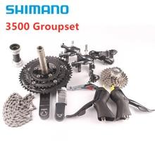 SHIMANO SORA 3500 3503 Crankset 170Mm 50T/39T/30T Với BBRS500 Đường Xe Đạp Xe Đạp 3X9 Tốc Độ Cassette 11    28T Groupset
