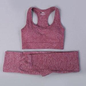 Fitness Trainingsanzug Frauen Hohe Taille Zwei Stück Set Frauen 2020 New Gym Jogging Femme Kleidung