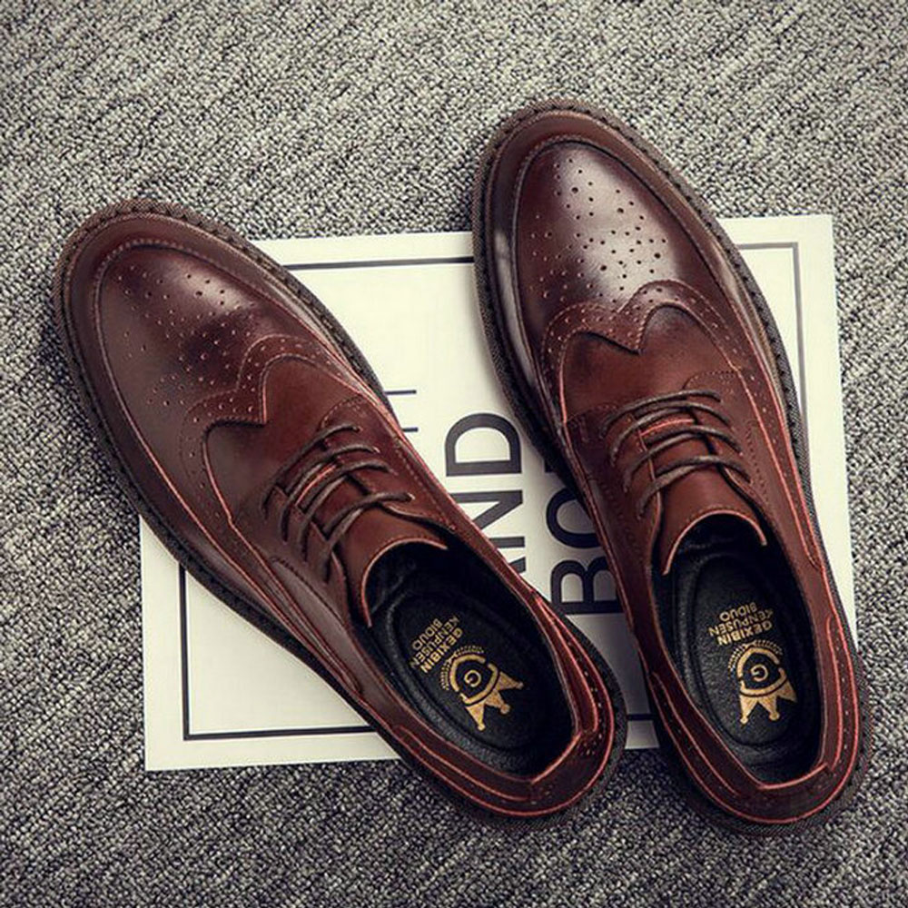 Autumn New Bullock Men Classic Business Formal Shoes Men Oxford Shoes Men Dress Shoes C21-56