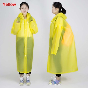 Man EVA Transparent raincoat Women Waterproof poncho Ladies Rain Coat Windproof Single-person Portable Rainwear Outdoor Travel