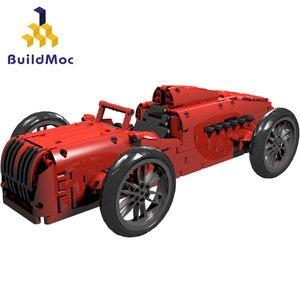 Строительные блоки Buildmoc Red Technic, гоночный автомобиль, мощный двигатель, строительные блоки, супер спорт, дистанционное управление, автомобил...