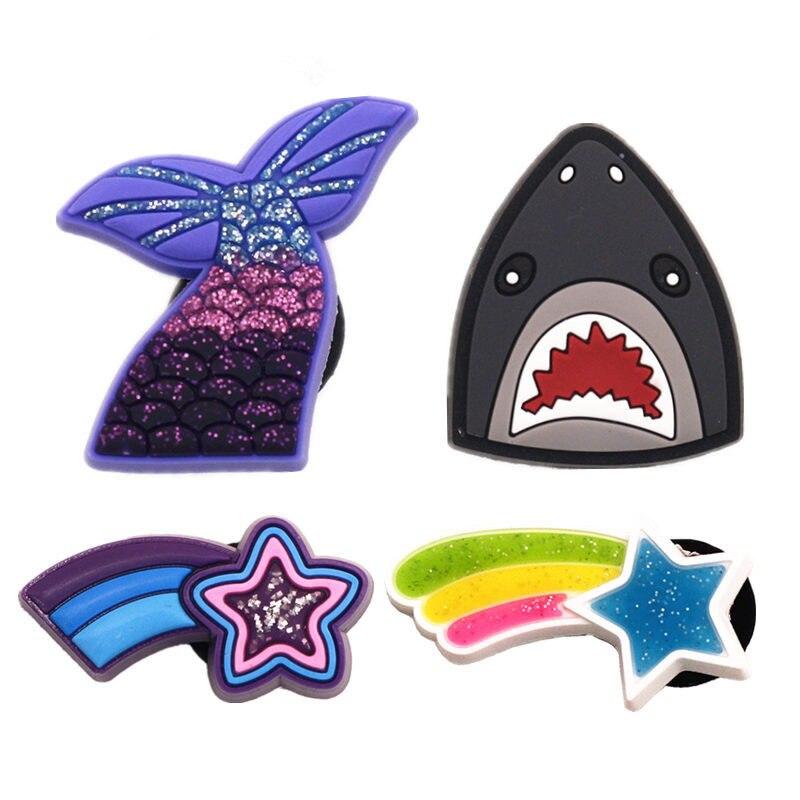 Pink Baby Shark PVC Shoe Charm