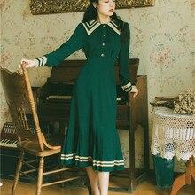 2020 nueva ropa de moda para mujer Vintage conjunto de 2 piezas de cuello de marinero para mujer