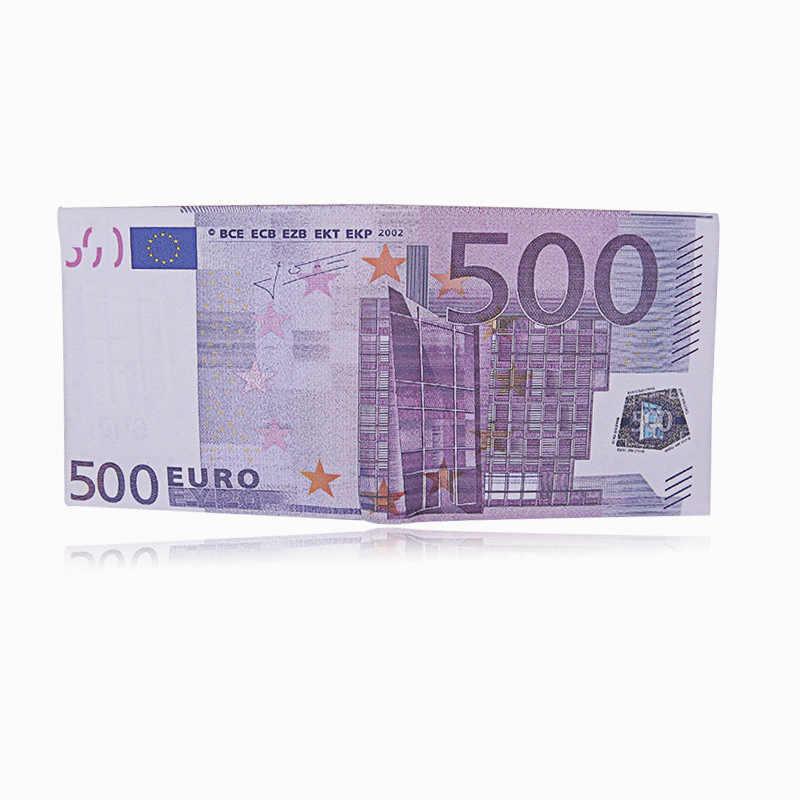 Carteira realista de couro, carteira de couro com estampa de criatividade para homens e mulheres, porta-cartões de crédito com clipes de dinheiro na moda
