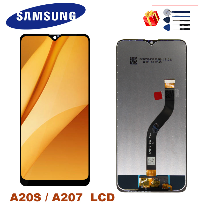 <font><b>A20S</b></font> <font><b>LCD</b></font> For <font><b>Samsung</b></font> <font><b>Galaxy</b></font> <font><b>A20s</b></font> Display A207 A207F A207F/DS <font><b>LCD</b></font> Display Touch Screen Digitizer Replacement Parts image