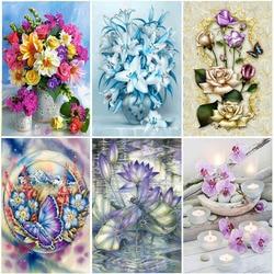 5D Diamond Painting Flower Mosaic Diy Diamond Embroidery Cross Stitch Full Round Rhinestone DIY Manual Hobby