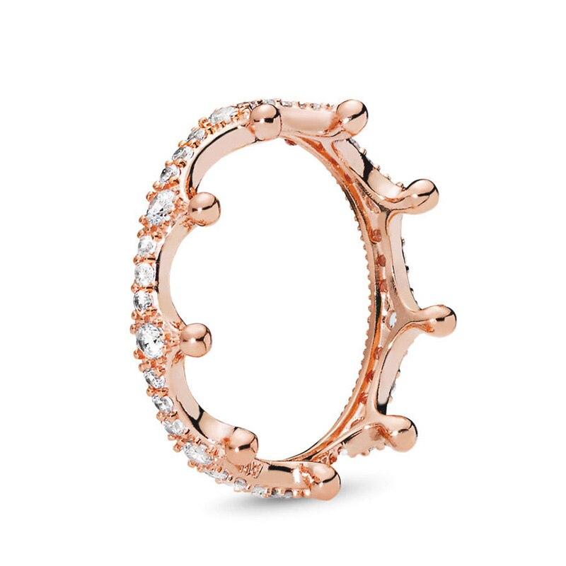 Кольцо на палец в форме сердечко серебряного цвета для женщин, европейская оригинальная Корона, изящные кольца на палец, свадебные украшения, 50 стилей, Прямая поставка - Цвет основного камня: Rings 014