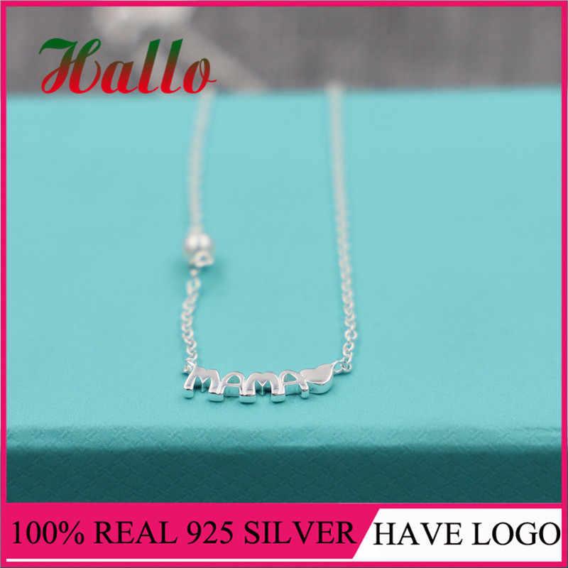 Nuevo producto, joyas de plata 925 de marca, collares para madres con piedra natural de plata 925, fabricación de pendientes, joyería fina