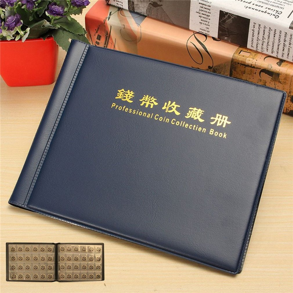 240 Holders Coin Collection Book Collecting Money Penny Pockets 10 Pages Coin Storage Album For Coin Collectors