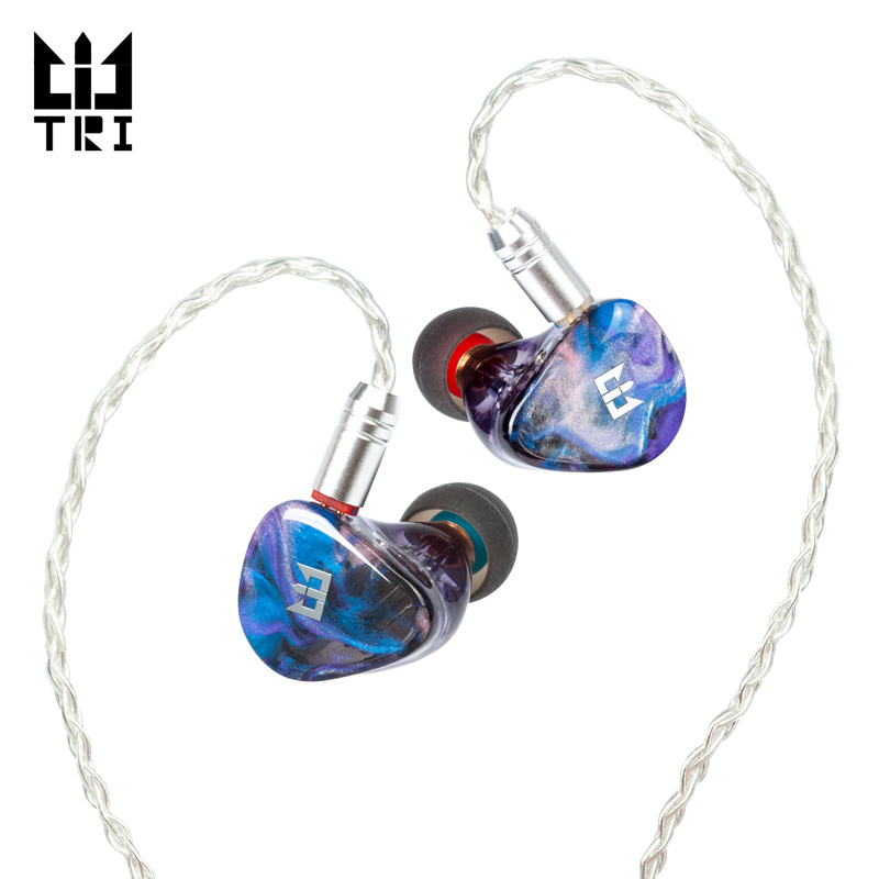 TRI Starsea 2BA+1DD Dynamic Driver Unit HIFI In Ear Earphone Monitor Sport Headphone Noise Cancelling Earbuds TRI I3 Starlight