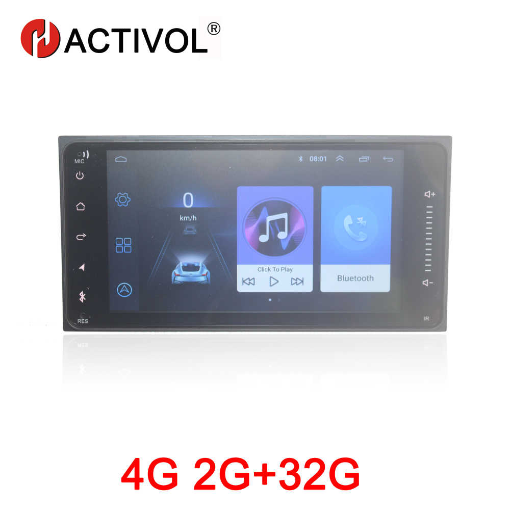 Hactivol 2G + 32G Android 8.1 Autoradio Voor Toyota Corolla Vios Fortuner Hilux Camry RAV4 Universele Auto dvd Speler Auto Accessoire