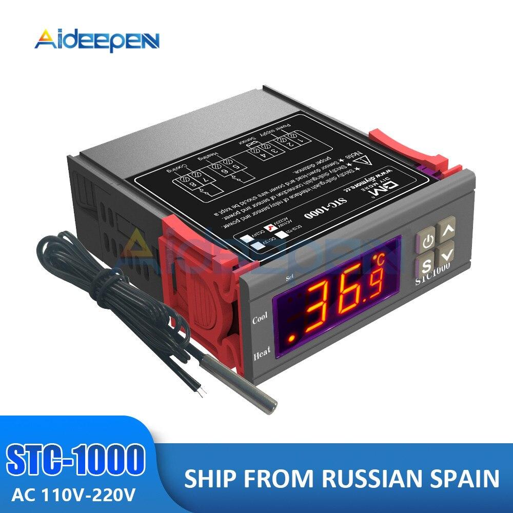 STC-1000 stc 1000 led termostato digital controlador de temperatura termorregulador relé aquecimento de refrigeração para incubadora ac 110-220v