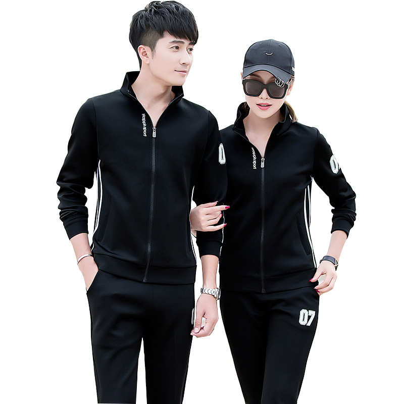 Sports Set Men's Spring And Autumn Jogging Suits 2019 New Style Women's Long-Sleeve Couple Clothes Sports Clothing Casual Two-Pi