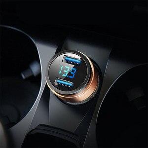 3.1A Dual USB Car Charger LED Display For Subaru Forester Outback Legacy Impreza XV BRZ VIZIV LEVORG Ascent Exiga(China)
