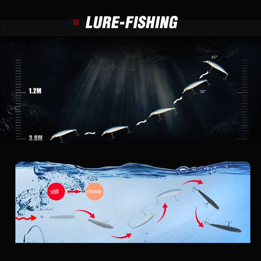 Minnow Swimbait Esche Da Pesca Jerkbait Luminoso Esca Dura Wobbler Basso di Nuoto Per Sinking Pike Artificiale Topwater Pesce