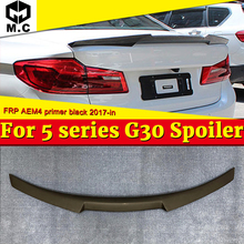 Fit For BMW G30 5 Series spoiler wing tail M4-style FRP Unpainted  520i 520d 530i 530d 540i 550i Rear Trunk Spoiler Wing 2017+ g30 spoiler rear trunk wing tail m4 style forging carbon for bmw 520i 530i 530d 540i 550i rear trunk lip spoiler car wing 2017