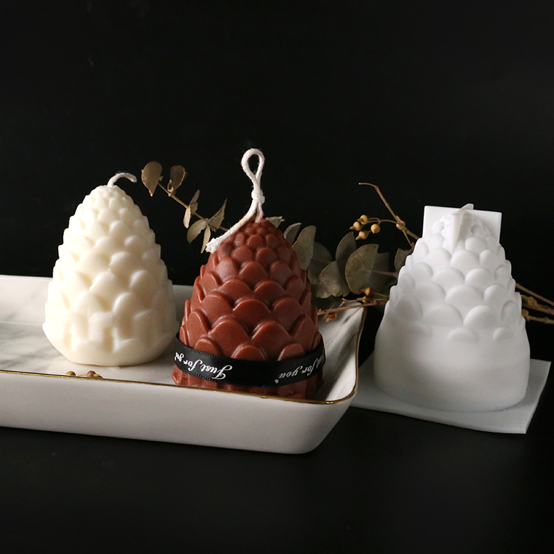3D Pine Cones Silicone Mold For DIY Handmade Candle Making 3D Candle Molds Silicone Wax Mold