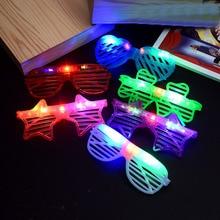 Glasses Birthday-Gifts Kids for Children Flashing Novelty Toys Lighting-Up-Toys Louver