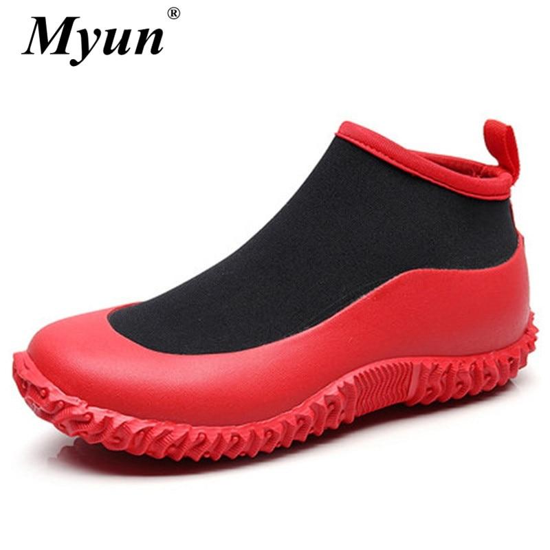 Size 36 46 Unisex Waterproof Rubber Gardening Shoes Men Womens Outdoor Rain  Boots Car Wash Footwear Kitchen Work Ankle Boots    - AliExpress