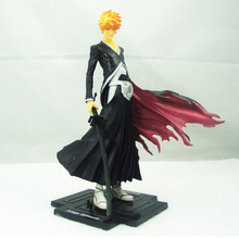 цены New Arrival 20cm Anime Bleach Kurosaki Ichigo Pvc Action Figures Toy Great Gift For Kids